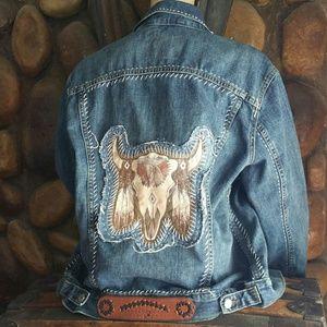 Jackets & Blazers - Custom Denim Jean Jacket